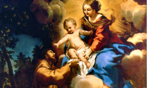 St. Francis of Assisi's prayer praising Mary