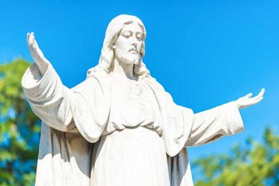 Lord Jesus Statue with Open Hands