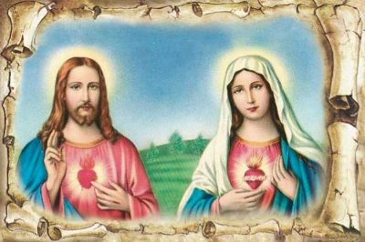 Sacred heart of Jesus and Immaculate heart of Mary