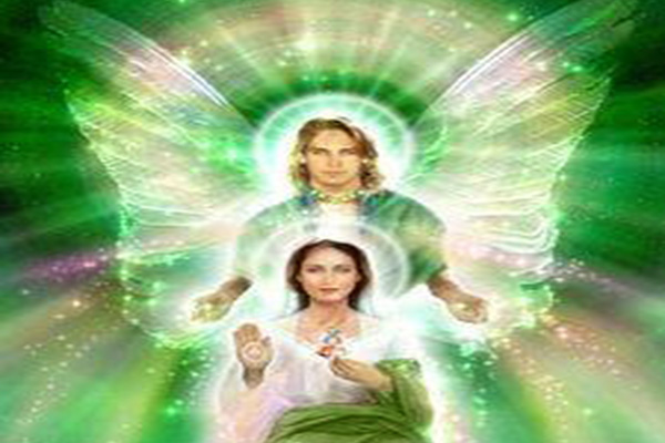 Archangel Raphael And Virgin Mary